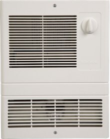Wall Heater, High-Capacity, 1000W Heater, White Grille, 120/240V