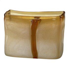 Sm Cream/cognac Vase