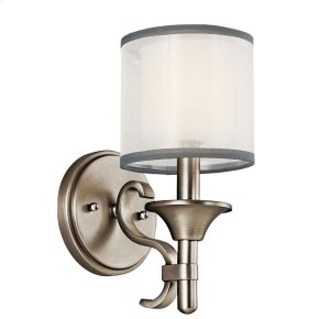 Lacey 1 Light Wall Sconce Antique Pewter