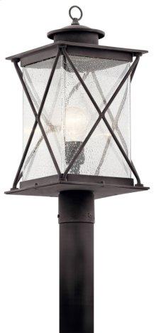 Argyle 1 Light Post Light Weathered Zinc