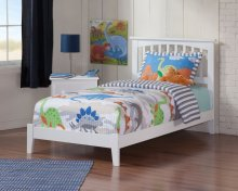 Mission Twin Bed in White