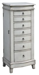 Evelyn Pale Grey Jewelry Armoire Product Image