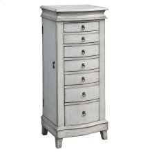 Evelyn Pale Grey Jewelry Armoire