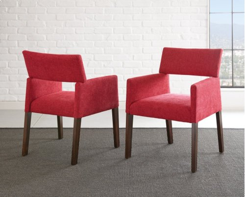 "Amalie Side Chair, Red 25""x24""x33"""