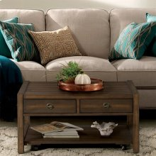 Perspectives - Small Coffee Table - Brushed Acacia Finish