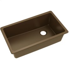 "Elkay Quartz Classic 33"" x 18-3/4"" x 9-1/2"", Single Bowl Undermount Sink, Pecan"