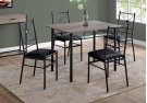 DINING SET - 5PCS SET / DARK TAUPE / BLACK METAL Product Image