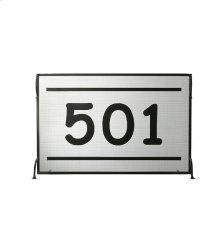 "44.5""W X 29""H Personalized 501 Fireplace Screen"