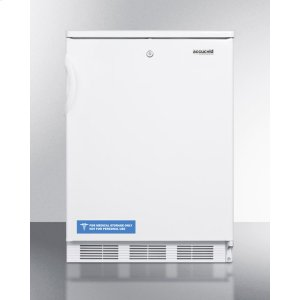 SummitCommercially Listed Freestanding All-refrigerator for General Purpose Use, With Front Lock, Automatic Defrost Operation and White Exterior