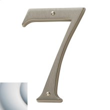 Satin Chrome House Number - 7