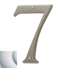 Satin Chrome House Number - 7