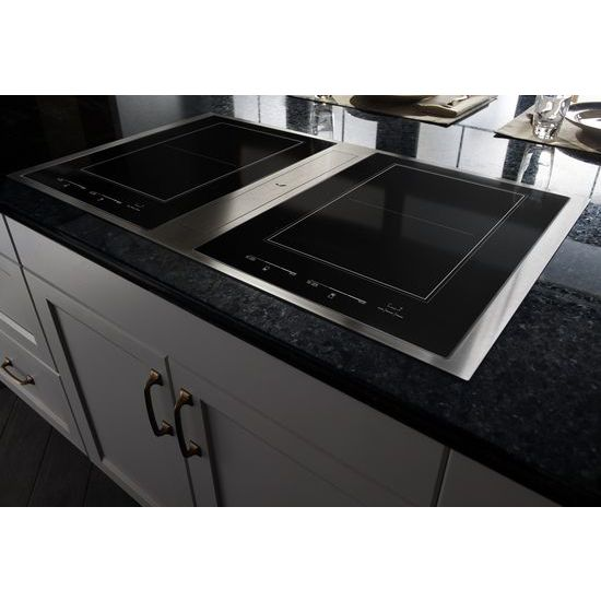 Jenn Air Reg Euro Style 36 Induction Downdraft Cooktop Stainless Steel