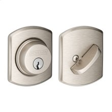 Single Cylinder Deadbolt with Greenwich trim - Satin Nickel
