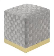 Emerald Home U1108-03sq-03 Jamison Square Ottoman, Granite Product Image