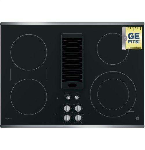 "GE Profile™ Series 30"" Downdraft Electric Cooktop"