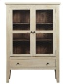 Display Cabinet - Washed Linen/Pine Finish Product Image