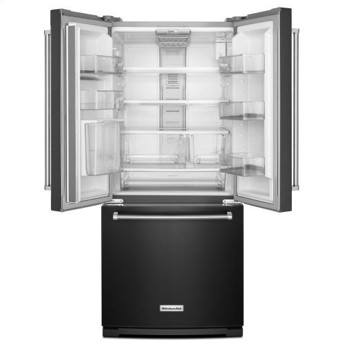 20 cu. Ft. 30-Inch Width Standard Depth French Door Refrigerator with Interior Dispense - Black Stainless Steel with PrintShield™ Finish