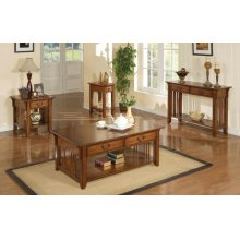 2-Drawer Coffee Table, 1-Drawer End Table $210.00, 2-Drawer Sofa Table $262.00 and 1-Drawer Chairside Table $180.00