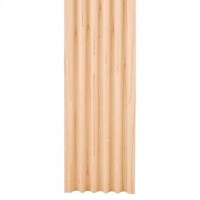 """3-1/2"""" X 5/8"""" Fluted Moulding Species: Hard Maple"""
