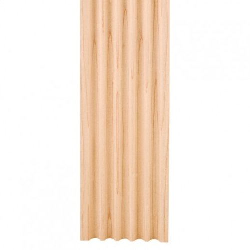 "4"" X 5/8"" Fluted Moulding Species: Oak"
