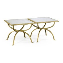 glomise & Gilded Iron Set of Two Tables
