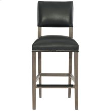 Moore Leather Bar Stool in Portobello
