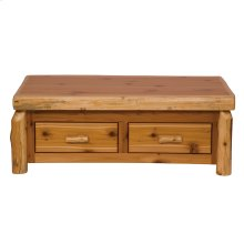 Enclosed Coffee Table Elevating top, Natural Cedar, Standard Finish