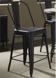 Bow Back Counter Chair - Black30 Product Image