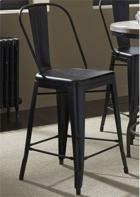 Bow Back Counter Chair - Black30