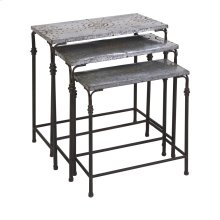 Gilbert Galvanized Nesting Tables - Set of 3