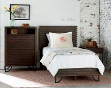 Stacked Slat Bedroom