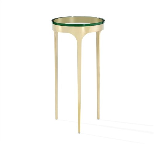 Camilla Drink Table - Glass/ Brass