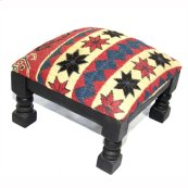 Single Kilim Foot Stool