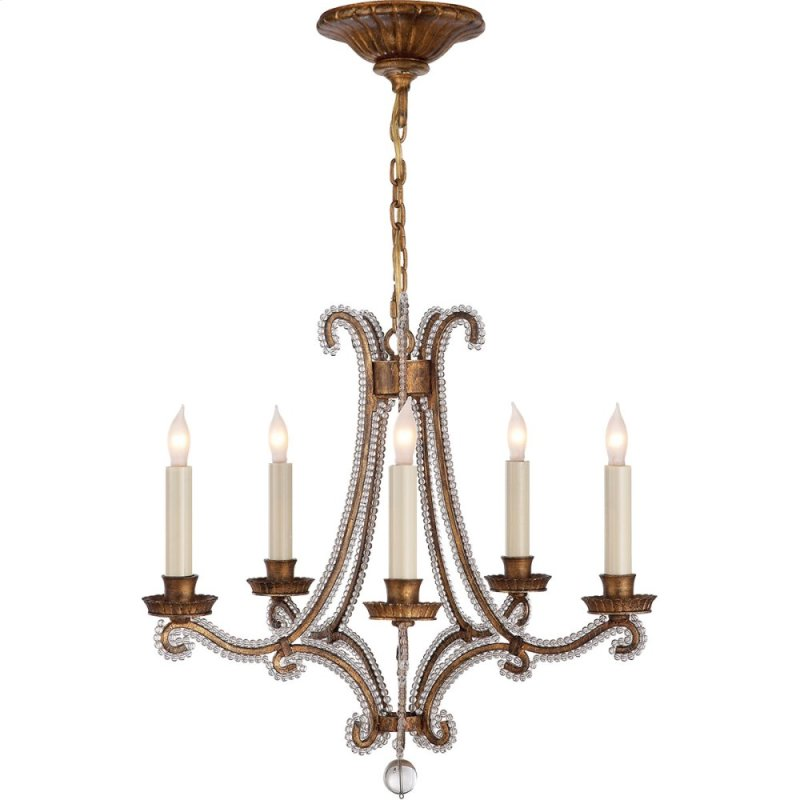 Visual Comfort Chc1559gi Cg E F Chapman Oslo 5 Light 17 Inch Gilded Iron Chandelier Ceiling Hidden