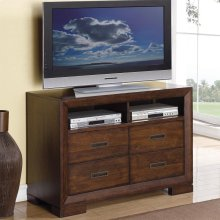 Riata - Media Chest - Warm Walnut Finish