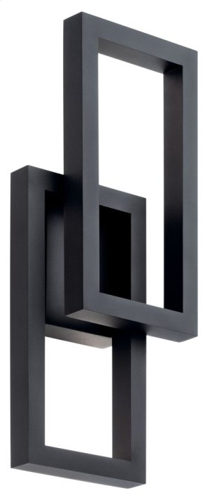 "Rettangolo 19"" 1 Light LED Wall Light Textured Black"