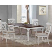 DLU-ADW4276-C12-AW5PC  5 Piece Andrews Butterfly Leaf Dining Set  Antique White