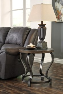 T739-6  Round End Table