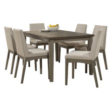 Clarion 7-piece Rectangle Dining Set With Upholstered Chairs - Distressed Gray