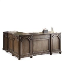 Belmeade L Desk & Return Old World Oak finish