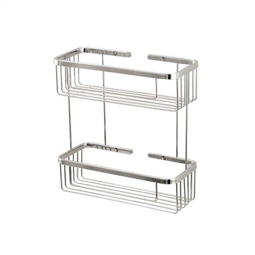 Two tier rectangular basket