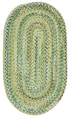 Grand-Le-Fleur Willow Green Braided Rugs (Custom)