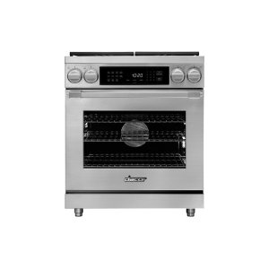 "Dacor30"" Heritage Dual Fuel Pro Range, Silver Stainless Steel, Natural Gas"