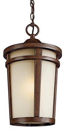 Atwood 1 Light Pendant Brownstone