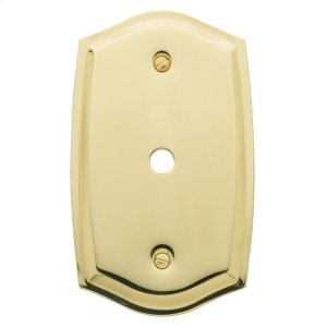 Polished Brass Colonial Cable Cover Product Image