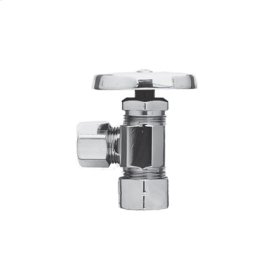 "Uncoated Polished Brass - Living Angle Valve, 1/2"" Compression"