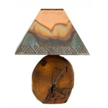 "25"" Mesquite Lamp W/Copper Shade"