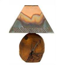 "25"" Mesquite Lamp W/Copper Shade"
