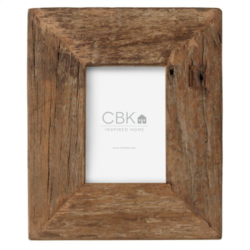 Reclaimed Wood Block 4x6 Frame (Each One Will Vary)