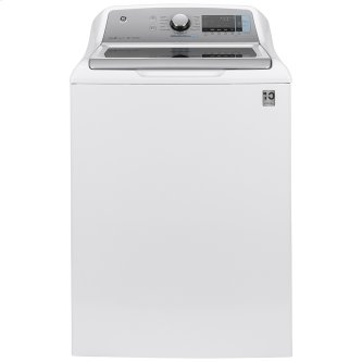 GE™ 5.8 cu. ft. (IEC) Capacity Washer with SmartDispense White - GTW845CSNWS
